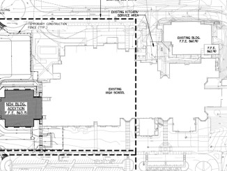 Photo of Dutchtown High School addition layout (Henry County Schools photo)