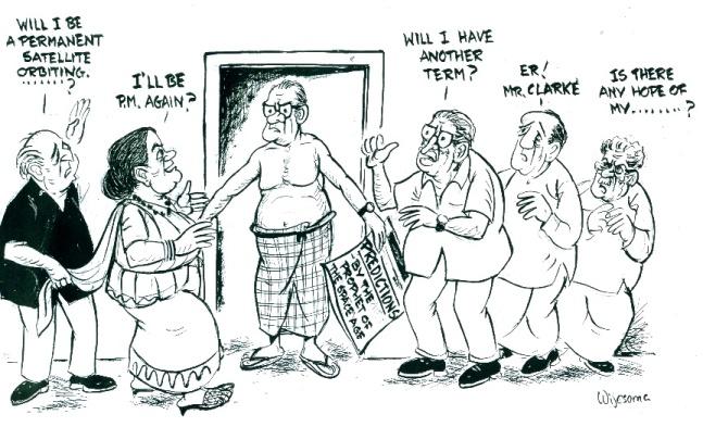 Cartoon by W R Wijesoma in The Observer (Sri Lanka)