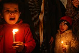 Gaza in darkness