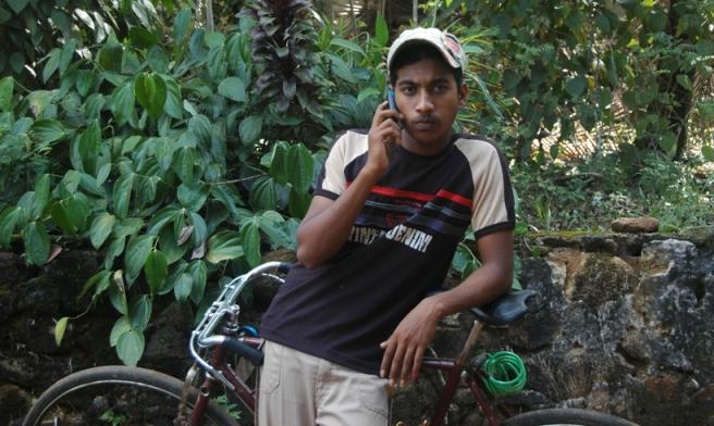 Chamara Pahalawattage: At 18, he is already using his 6th mobile (Photo by Niroshan Fernando, TVEAP)