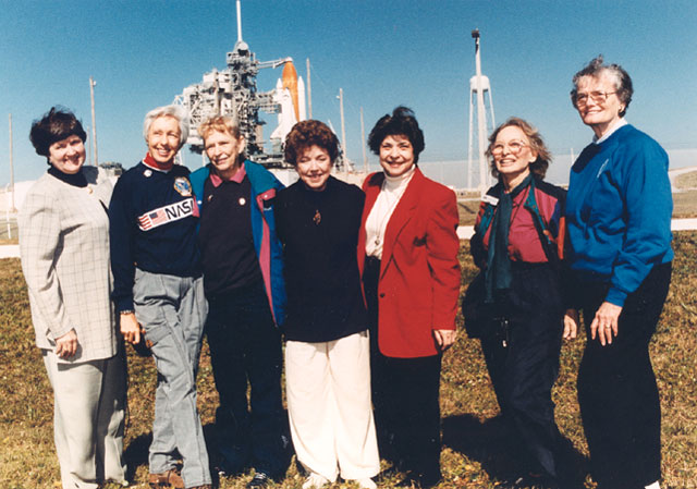 Mercury 13 women reunion in 1995 - NASA image
