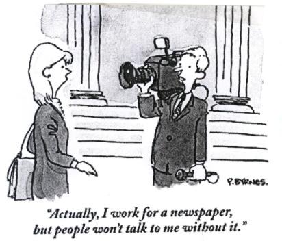 Shooting the news...
