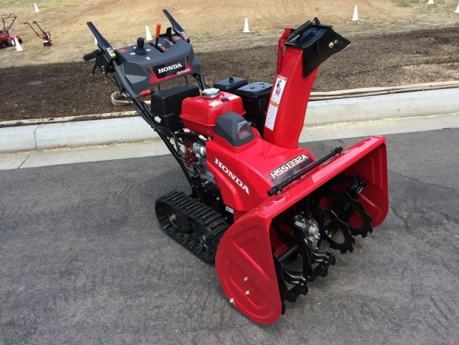 HSS1332AT / HSS1332ATD Track 32 inch. The ATD is an electric start option. MSRP $3189* (AT) $3399* (ATD)