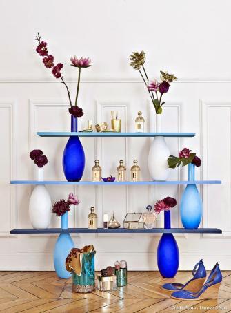 Une étagère en fleurs !