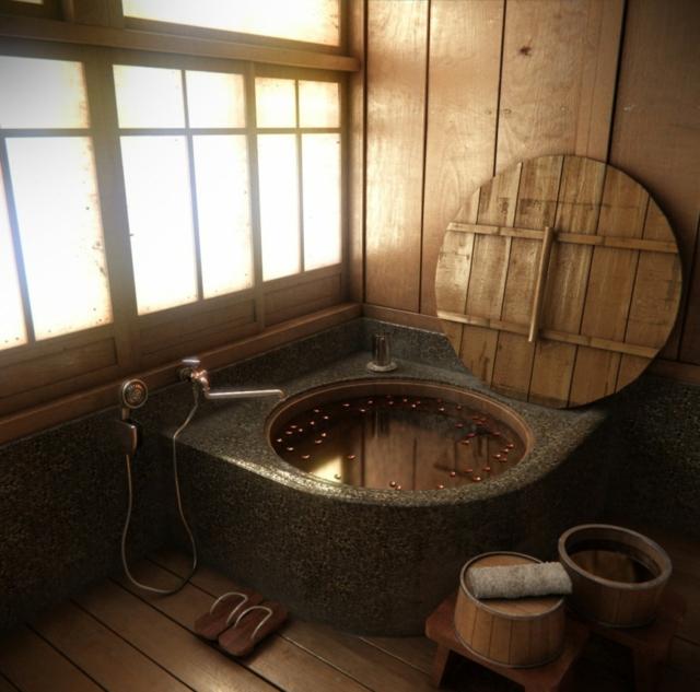 salle de bain japonaise traditionnelle - Ecosia