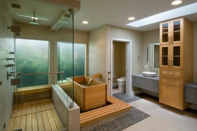 Une salle de bain japonaise moving tahiti - Japanisches badezimmer ...