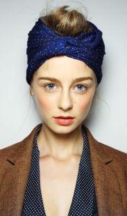 Accessoire de cheveux tendance, le foulard 4