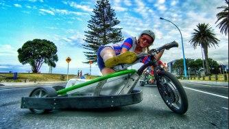 Drift Trike motorisé et Blokart avec Devin Supertramp