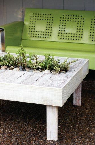 Des idées créatives de tables de jardin
