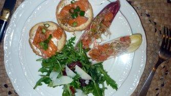 Les délices d'Aper'O soleil : La pirogue d'endive au saumon