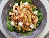 Salade de pâtes au saumon et au fromage de chèvre