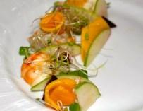 Salade de langouste, à la mangue