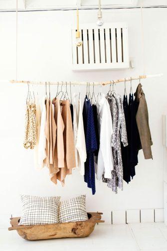 DIY : Réaliser soi-même son portant à vêtements