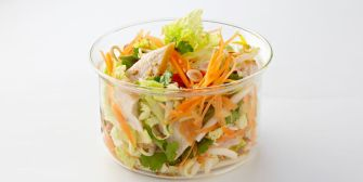 Salade thaï de poulet au chou chinois