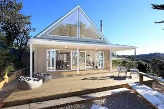 Viewpoint, une petite maison charmante située sur l'île de Waiheke en Nouvelle-Zélande