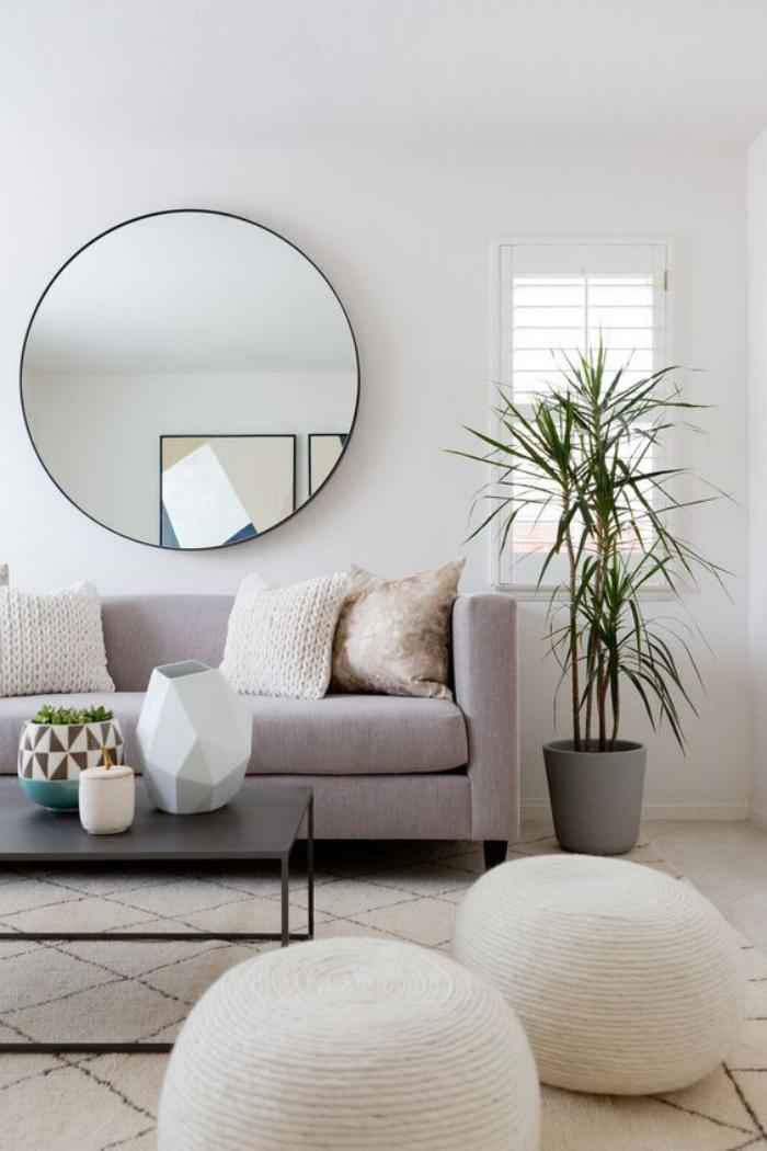 miroir design miroir mural design salon en gris et blanc Moving