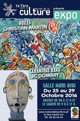 Exposition VIK'URA Peinture-Poterie à  la salle Muriavai