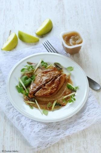 Le foie gras poêlé à la pomme verte