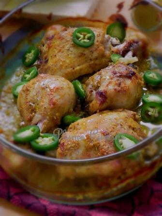Poulet au curry au four