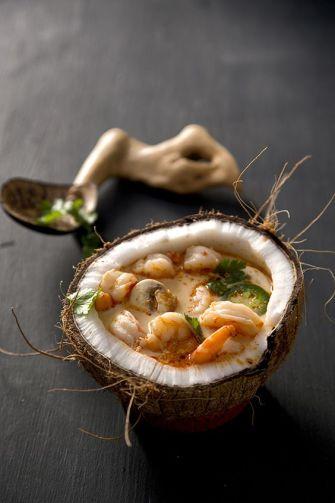 Soupe de crevettes coco et gingembre