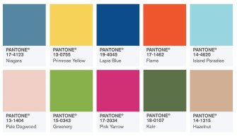 Top 10 des couleurs tendances en 2017