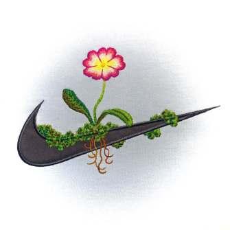 James Merry brode des fleurs sur les logos célèbres