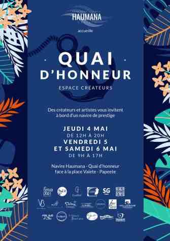 QUAI D'HONNEUR : Le premier pop-up store sur un yacht à Tahiti