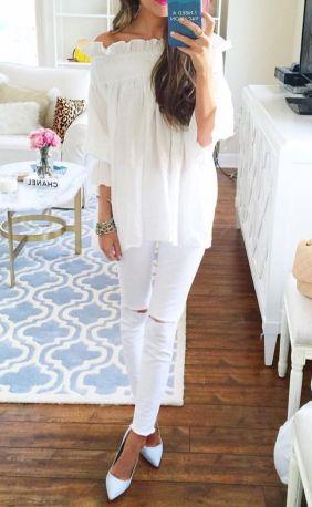 Comment bien porter le jean blanc 15