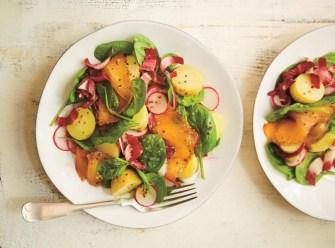 Salade d'endives au saumon fumé et vinaigrette au miel