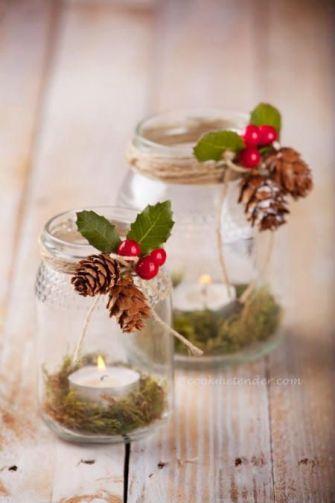 Recyclez vos bocaux pour votre déco de Noël