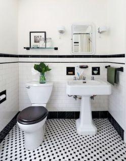 Mosaique Noir et blanc - salle de bain (12)