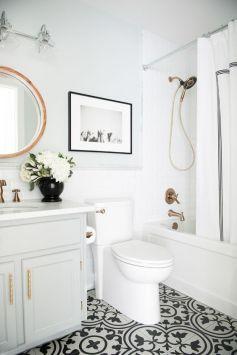 Mosaique Noir et blanc - salle de bain (17)