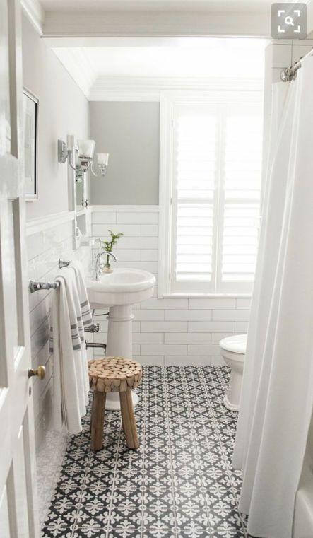 Mosaique Noir et blanc - salle de bain (21)