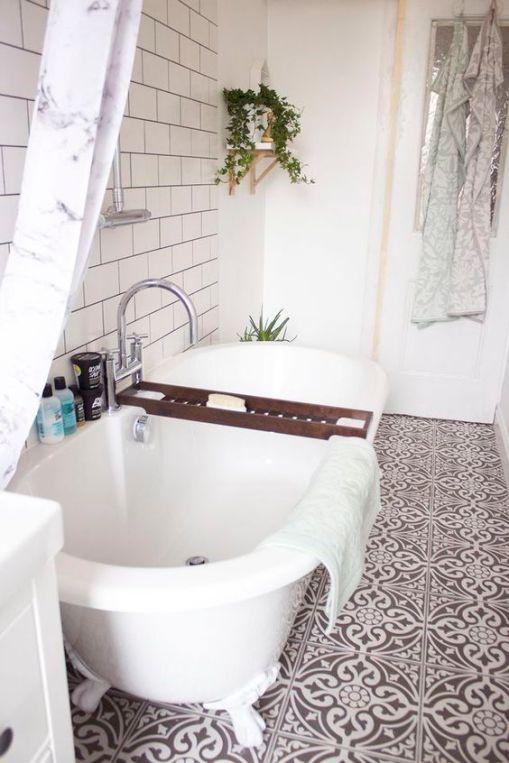 Mosaique Noir et blanc - salle de bain (22)