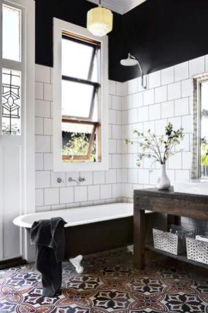 Mosaique Noir et blanc - salle de bain (7)