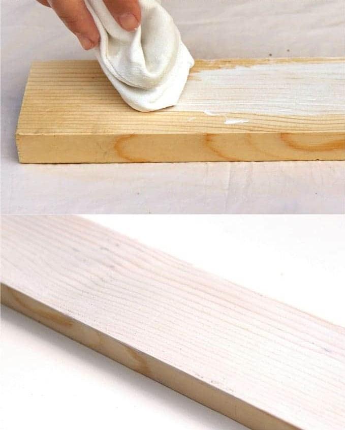 diy 3 techniques tr s simples pour blanchir le bois. Black Bedroom Furniture Sets. Home Design Ideas