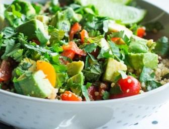 Salade de quinoa, avocat et lentilles