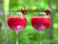 Le sluch à la fraise et au vin rosé