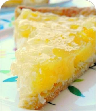 La tarte à l'ananas et au coco