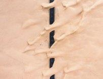 Le désert envahi Dubaï et Abu Dhabi, et les images sont remarquables
