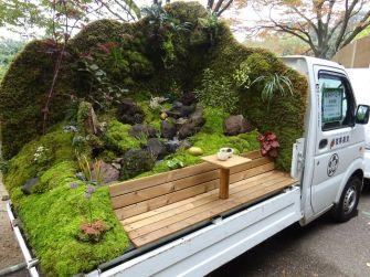 Kei Truck Garden Contest : Une compétition japonaise du meilleur jardin à l'arrière d'un camion