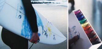 Surf : Rip Curl lance les crayons en wax pour décorer sa planche