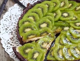 Tarte au kiwi et panna cotta