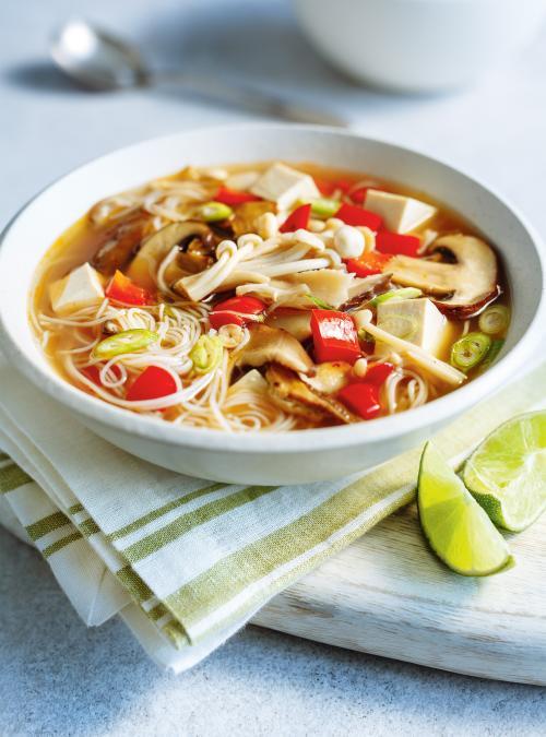 Soupe-repas miso aux champignons