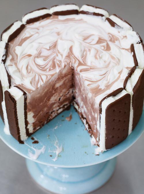 Gâteau ice cream sandwich et crème glacée