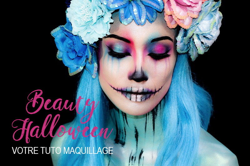 beauty halloween tuto maquillage by audrey bodilis