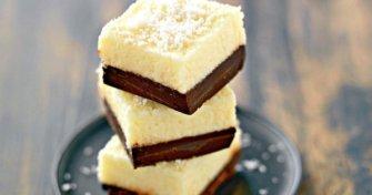Carrés fondants au chocolat et au coco