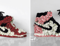 Mr Flower Fantastic transforme des baskets en bouquets de fleurs