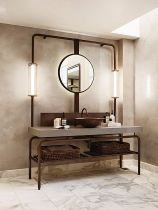 Salle de bain en béton et en bois (11)