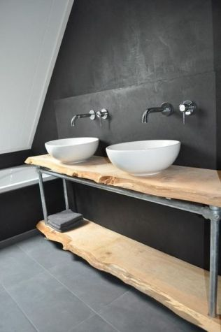 Salle de bain en béton et en bois (16)